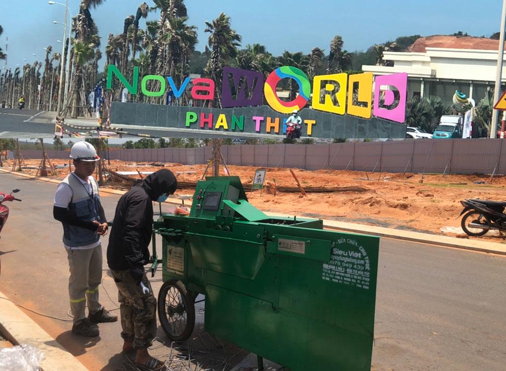 Cung cấp máy bẻ đai sắt cho dự án Nova World Phan Thiết, Bình Thuận