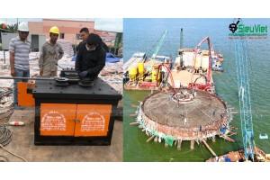 Cung cấp máy gia công sắt phục vụ thi công điện gió tại Thạnh Hải, Thạnh Phú, Bến Tre
