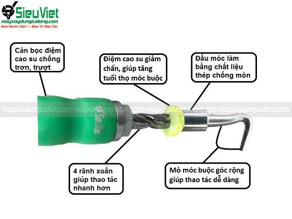 Ưu điểm của móc buộc sắt Siêu Việt